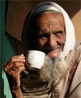Bedstefar drikker te