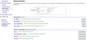 Google Webmaster Tools - Administration af sitelinks