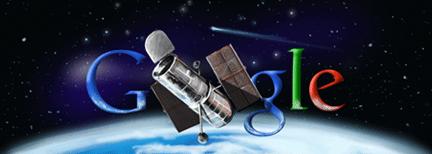 Hubble-rumteleskopet - Google-logo
